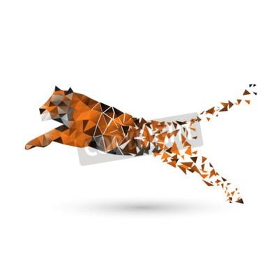 Fototapete Tiger von Polygonen