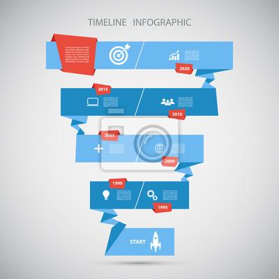 Timeline infographic design template.vector illustration für ...