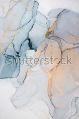 Fototapete Tinte, Farbe, abstrakt. Nahaufnahme des Gemäldes. Bunter abstrakter Anstrichhintergrund. Stark strukturierte Ölfarbe. Hochwertige Details.