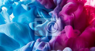 Fototapete Tintentropfen im Wasserhintergrund
