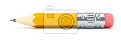 Fototapete Tiny sharp pencil - 3d render