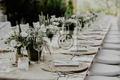 Dekoration Tisch.Fototapete Tisch Dekoration
