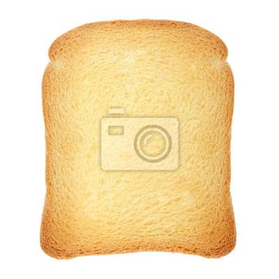 Toast Brot auf weiß, Clipping-Pfad enthalten