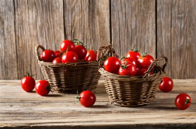 Fototapete Tomaten in einem Körbe