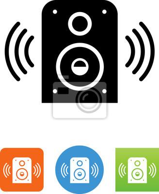 Ton audio lautsprecher symbol fototapete • fototapeten anmelden ...