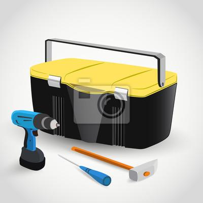 Tool Box mit Instrumenten