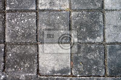 Fototapete Top-Blick auf Bürgersteig Backstein-Platz