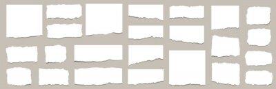 Fototapete Torn sheets of paper. Torn paper strips set. Vector illustration