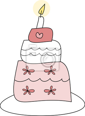 Torte Fur Hochzeit Geburtstag Valentinstag Fototapete