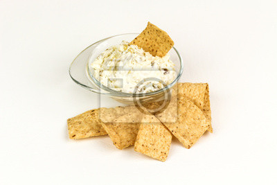 Tortilla-Chips und Dip
