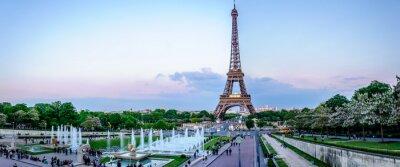Fototapete Tour Eiffel au crépuscule