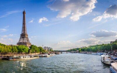 Fototapete Tour Eiffel et pont d'Iéna