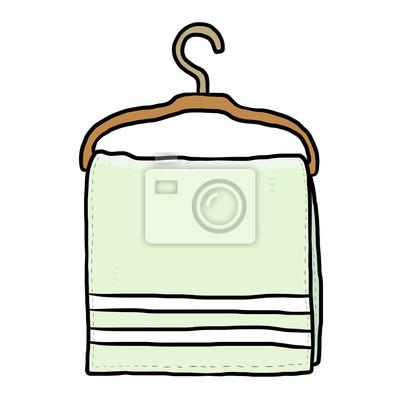 Fototapete towel and hanger