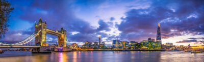 Fototapete Tower Bridge  panorama at blue hour
