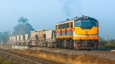Fototapete Track Ballast Zug in ländlichen Raum, 2013. (Taken Form öffentlichen Straßen-Seite.)