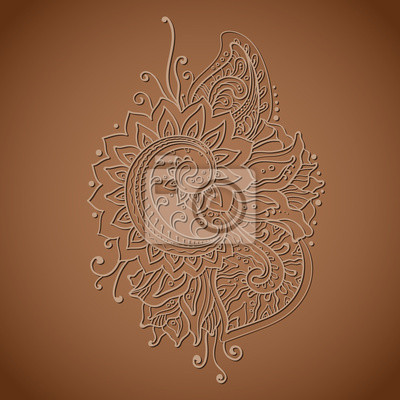 Traditionell vektor orientalischen floralen Ornament mit vielen Details