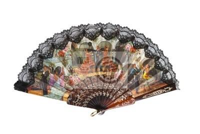 traditionelle asiatische Fan isoliert