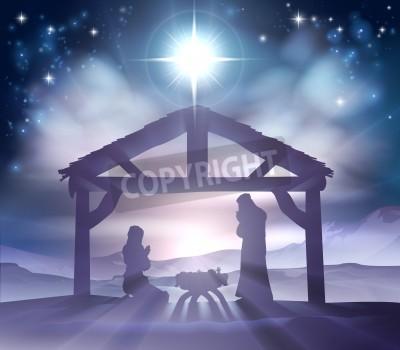 Christliche Bilder Weihnachten.Fototapete Traditionelle Christliche Weihnachten Krippe Des Jesuskindes