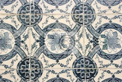 Traditionelle Portugiesische Fliesen Azulejos Fototapete - Portugiesische fliesen azulejos