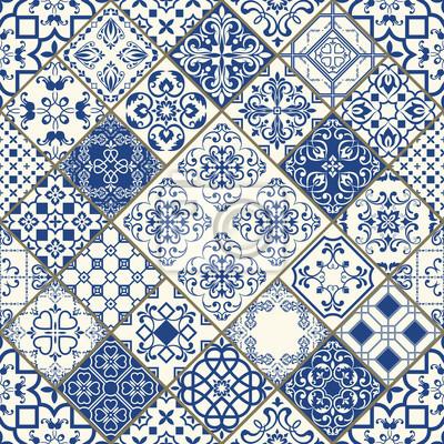 Traditionelle Verzierte Portugiesische Dekorative Fliesen Azulejos - Portugiesische fliesen azulejos