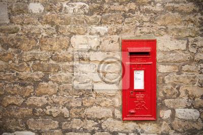 Traditionellen Alten Englisch Roten Briefkasten Fototapete