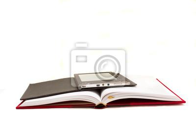 Fototapete traditionellen Buch und E-Book