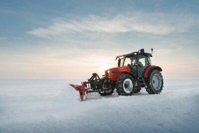 Fototapete Traktor Reinigung Schnee
