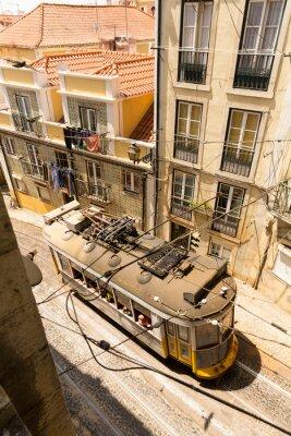 Fototapete Tram on the street
