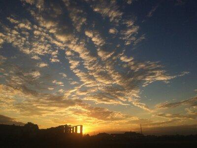 Fototapete Tramonto nuvole