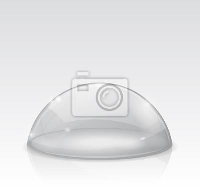 Kjempebra Transparente weiße kuppel, glas-halbkugel fototapete • fototapeten YK-86