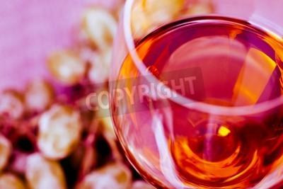 Fototapete Traube und Wein