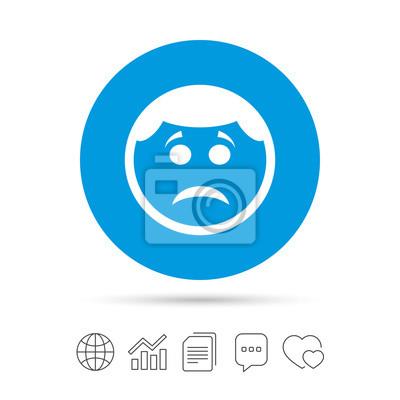 Trauriges Gesicht Zeichen Symbol Traurigkeitssymbol Fototapete