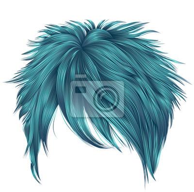 Kurze haare blau färben