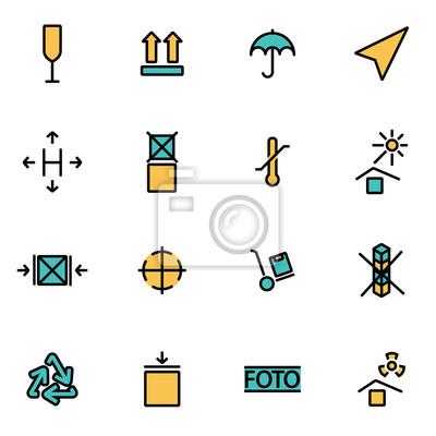 Trendiges flatline icon pack für designer und entwickler. vector ...