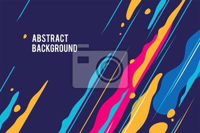Fototapete Trendy abstract design, colored dynamic background. Applicable for placards, brochures, posters, covers and banners. Vector illustration.
