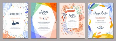 Fototapete Trendy abstract Easter templates. Good for poster, card, invitation, flyer, cover, banner, placard, brochure and other graphic design.