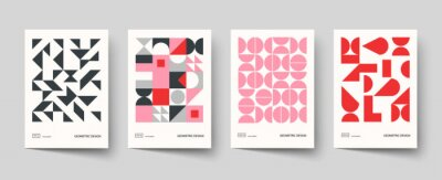 Fototapete Trendy covers design. Minimal geometric shapes compositions. Applicable for brochures, posters, covers and banners.