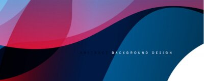 Fototapete Trendy simple fluid color gradient abstract background with dynamic wave line effect. Vector Illustration For Wallpaper, Banner, Background, Card, Book Illustration, landing page
