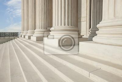 Treppe und Säulen der Oberste Gerichtshof in Washington DC
