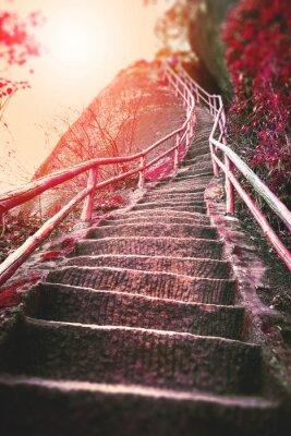Fototapete Treppen auf den Berg