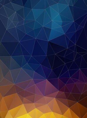 Fototapete Triangle flat geometric colorful background