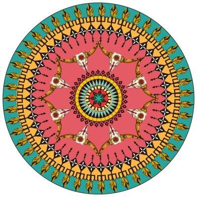 Tribal rund ornamentalen Hintergrund