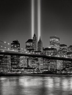 Fototapete Tribut im Licht, 11. September Gedenkfeier, New York City