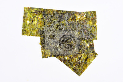 Trocken Algen auf weißem Hintergrund
