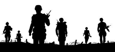 Fototapete Troops Vordergrund