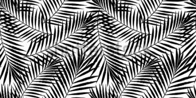 Fototapete Tropische Palme des Sommers verlässt nahtloses Muster. Vector grunge Design für Karten, Netz, Hintergründe und Naturprodukt.