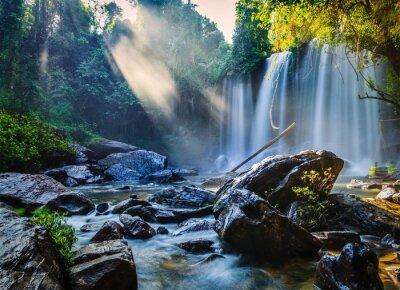 Fototapete Tropischer Wasserfall