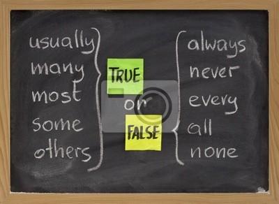 true oder false Worte