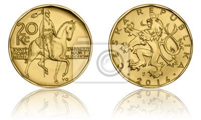 Tschechische Krone Münzen 20 Czk Zwanzig Kronen Avers Und