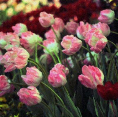 Tulpen / Ölgemälde-Fotoeffekt